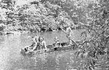 Children at Zenith in the 1930's enjoying a john boat excursion on North White Oak Creek.