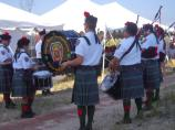 Pipers and Drummers from the Atlantic Beach Fire Department Pipe Band