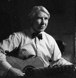 Carl Sandburg and his Guitar