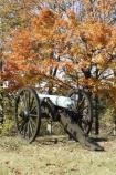 Cannon on Missionary Ridge in fall.