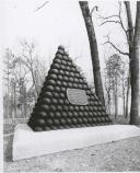 Union Brigadier General William H. Lytle was mortally wounded about noon, September 20, 1863 during the Battle of Chickamauga. This circa 1900 photograph show the shell pyramid placed to mark the spot where Lytle was wounded.