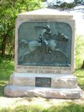 Monument in honor of the Seventh Pennsylvania Cavalry, Minty's Brigade, Army of the Cumberland.