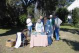 Period indigo dyeing demonstrations are popular events at Charles Pinckney National Historic Site.