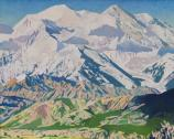 """Drifting Clouds, Denali 2002"" 26"" x 38"" oil on canvas"