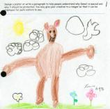 child's drawing of a bear