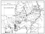 an old line-drawing map of Mount McKinley National Park