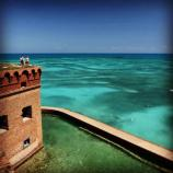 A family stands atop Fort Jefferson in Garden Key