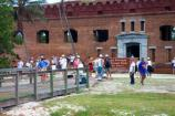 Visitors from Key West at the entrance to Fort Jefferson Dry Tortugas National Park