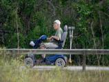 Visitor utilizing one of Everglades National Park's accessible trails