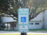Accessible parking signage