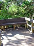New seating area on Nature Boardwalk
