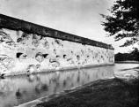 Damaged exterior walls of Fort Pulaski