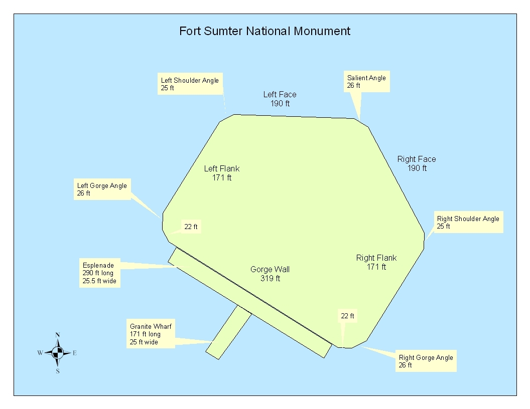 Photo Gallery US National Park Service - Ft sumter us map
