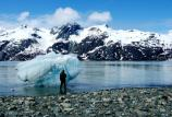 Enjoying an iceberg in Glacier Bay