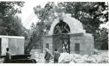 Nash Arch removal. Crane removing keystone. Summer of 1937