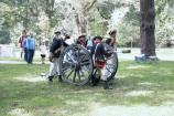 The Guilford Courthouse Artillery Crew presents interpretive programs for park visitors