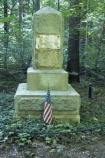 Dedicated 1891. Captain James Tate commanded a company of Augusta County Virginia militia. He was killed in the New Garden skirmish on the moring of the battle. His remains were reinterred at this site in 1891.