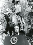 President Gerald Ford visits in March 1976