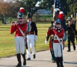 Gen Andrew Jackson and American troops march during the 2008 Battle of New Orleans anniversary.