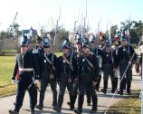 US 7th Infantry soldiers in 1815 dress march at Battle of New Orleans anniversary 2008.