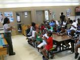 Ranger Katherine Brock gives orientation talk on National Park Service to Boys and Girls Club.