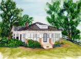 Watercolor of the Boyhood Home of Jummy Carter