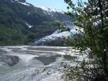 Exit Glacier and its outwash plain
