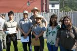 Rangers and volunteers pose with certificates of accomplishment