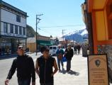 Visitors in Skagway Historic district