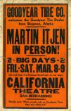 Historic advertizing Poster for Martin Itjen in San Bernadino