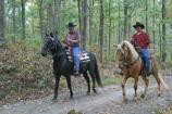 Horseback riders on a backcountry trail in Mammoth Cave National Park