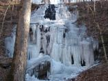 Even though the water is not flowing at Fall Hollow, it is a spectacular winter sight.