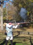Musket firing for the crowd.