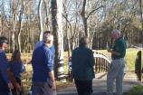 Park volunteer leads tour.