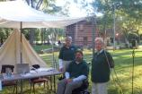 Volunteers Cecil Sprouse, Brian Alvarez & Carol Scales at the Information tent