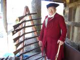 Reenactor Virgil Voss & his gun display.