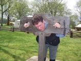 Robert Gouedy was found guilty. His punishment was a fine or the time in the pillory. He chose the pillory.