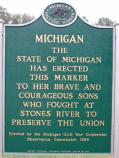The Michigan Civil War Centennial Observance Commission placed this marker on the battlefield in 1966.