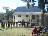 University of North Florida Music Program students performed at Kingsley Plantation as part of the Kingsley Heritage Celebration after the slave trade talk.