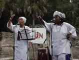 Olorun closed the 2002 Kingsley Heritage Celebration: Music and Culture by performing African music, storytelling, and blessings at the slave quarters.
