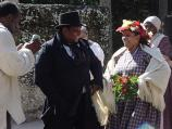 A slave wedding was presented by reenactors from Historic Brattonsville at the 2002 Kingsley Heritage Celebration.