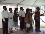 The Georgia Sea Island Singers performed song and dance at the 2000 Kingsley Heritage Celebration.