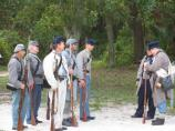 26th Georgia Confederate Infantry reenactors