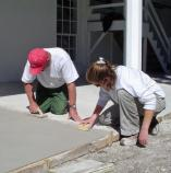 A new lime coat was placed over the tabby porch to protect the historic material.