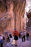 An interpretive stop on the Fiery Furnace guided hike.