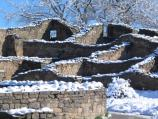Aztec Ruins in the snow