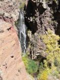 The Upper Falls drops 80 feet over exposed volcanic rock from the neck of a volcano. In Autumn, box elders turn a lovely shade of gold.