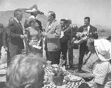 Lady Bird Johnson welcomed into Big Bend National Park at Panther Junction.