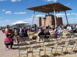Main Performance Stage during the 2009 American Indian Music Fest with the Casa Grande in the background.