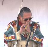 R. Carlos Nakai performing on the Main Stage near the Casa Grande during the 2009 American Indian Music Fest.